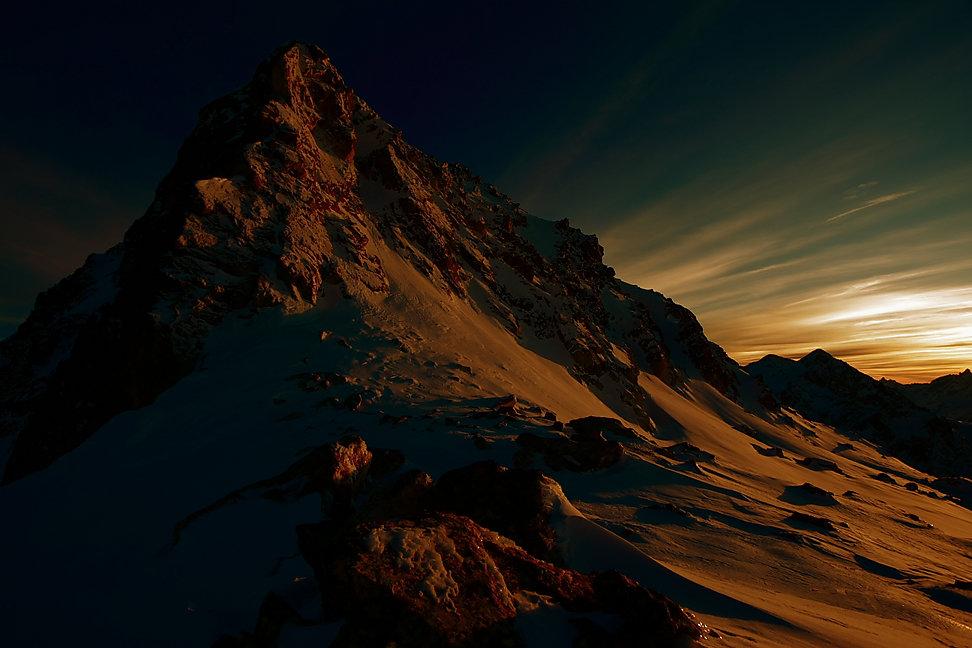 Fin de journée au col du Tepey