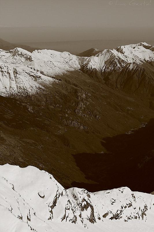 Neiges d'automne sur les Alpes Grées